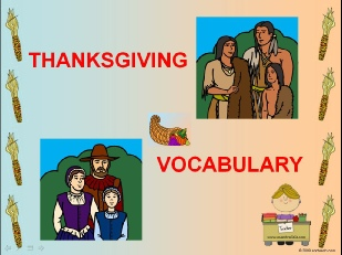 thanksgiving VOCABULARY BY ME.ppsx