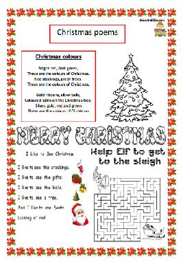 Poesie Di Natale In Inglese Per Bambini.Christmas