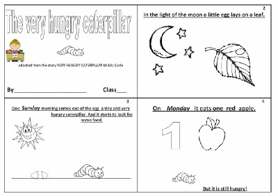 Lively image with regard to the very hungry caterpillar mini book printable