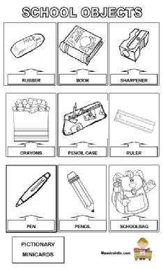 Classroom Objects Activities For Kids