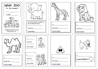 Animals on Home Me Free Printables
